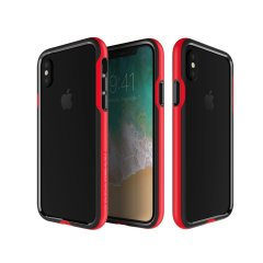 Patchworks Level Silhouette iPhone X Bumper Case - Red