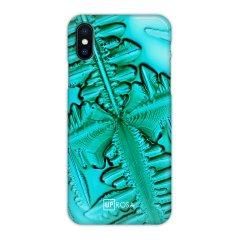 Uprosa Slim Line iPhone X Hülle - Blaues Eis