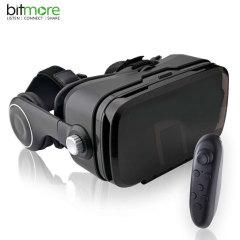 Découvrez de nouveaux mondes grâce à votre smartphone et ce casque VR Eye Plus de chez Bitmore. Ce casque robuste et d'excellente qualité vous plongera encore plus dans le monde de la VR.
