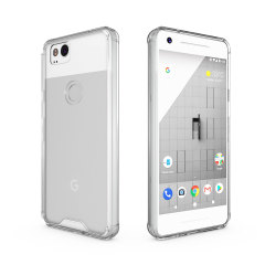 Custom moulded for the Google Pixel 2, this crystal clear Olixar ExoShield tough case provides a slim fitting stylish design and reinforced corner shock protection against damage, keeping your device looking great at all times.