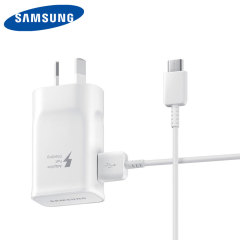 A genuine Samsung Australian adaptive fast mains wall charger and USB-C cable for your Samsung Galaxy S8, S8 Plus and Note 8.
