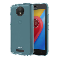 Custom moulded for the Motorola Moto C this blue FlexiShield case by Olixar provides slim fitting and durable protection against damage.