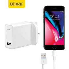 Charge your iPhone 8 / 8 Plus quickly and conveniently with this compatible High Power charging kit. Featuring mains adapter and Lightning cable.