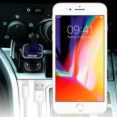 Keep your Apple iPhone 8 / 8 Plus fully charged on the road with this high power 3.1A Car Charger. As an added bonus, you can charge an additional USB device from the second built-in USB port!