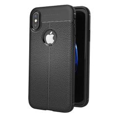 Olixar Attache Premium iPhone X Leather-Style Protective Case - Black