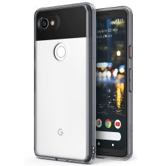 Protect the back and sides of your Google Pixel 2 XL with this incredibly durable and clear / smoke black backed Fusion Case by Rearth Ringke.