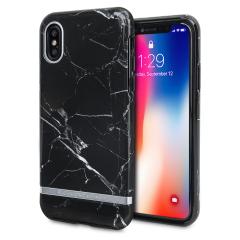 Richmond & Finch Black Marble iPhone X Case - Silver