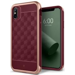 Caseology Parallax Series iPhone X Case - Burgundy
