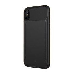 Caseology Nero Slim Series iPhone X Case & Glass Screen Protector