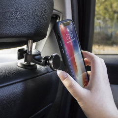 Dock your smartphone effortlessly and with precision thanks to the Universal Magnetic Headrest Car Holder from Olixar. Extremely easy to install and fully case compatible, this really is the best way for backseat passengers to hold their phone in-car.