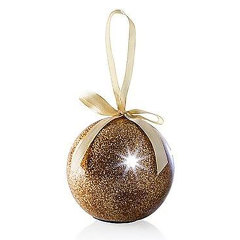 Send friends and loved ones a fabulous gold LED glitter bauble with your own recorded message on it this Christmas. Not only is it far more impressive than a card, it can be used over and over again and make a perfect gift, keepsake and decoration.