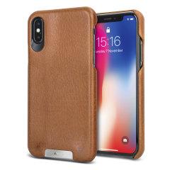 Vaja Grip iPhone X Premium Leather Case - Tan