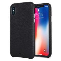 Vaja Grip Slim iPhone X Premium Leather Case - Black