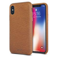 Vaja Grip Slim iPhone X Premium Leather Case - Tan