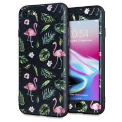 LoveCases Paradise Lust iPhone 8 Case - Flamingo Fall