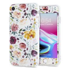 LoveCases Blumenkunst iPhone 8 / 7  Hülle - Weiß