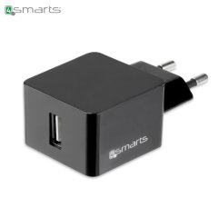 This 4smarts USB EU Mains Charger is a compact adapter with a universal USB charging port. This charger is easily powerful enough to charge all smartphones, as well as most tablets, quickly and efficiently.