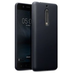 Custom moulded for the Nokia 5, this solid black FlexiShield case by Olixar provides slim fitting and durable protection against damage.