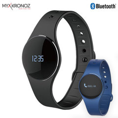 MyKronoz ZeCircle is a premium activity tracker / smartwatch hybrid with built-in notification support and a sleek, attractive circular interface. Keep up with your fitness goals and your social life simultaneously. Includes a black and a blue strap.