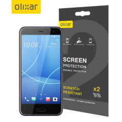 Keep your HTC U11 Life screen in pristine condition with this Olixar scratch-resistant screen protector 2-in-1 pack.