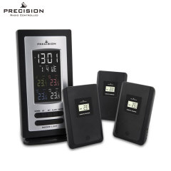 Precision Multi-Temperature Alarm Clock w/ 3x Radio Temp Sensors