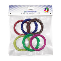 Forever 3D printing pen refill strips come in a set of 6 different colours, allowing you to take your artistic drawing skills to the next level. 3D pen is a great way to transform your thoughts into reality by creating exquisite and modern designs!