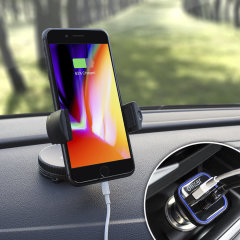 The perfect in-car accessory pack for your iPhone 8 Plus. Featuring a case compatible car holder mount, a 3.1 amp USB car charger and a 1m Lightning cable; you'll have everything you need to hold and charge your phone while driving.