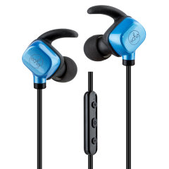 Listen to music and take calls on the go with the EchoVibes Bluetooth headphones in black and blue from Echo. Lightweight, long-lasting and boasting great EQ response, these wireless headphones will be your best companion at all times.