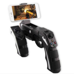 Take the perfect shot every time with the Phantom Shox Bluetooth gun controller for Android and iOS smartphones. Perfect for shooters and other high-energy action games, this controller features a sturdy holder and shock feedback for authenticity.