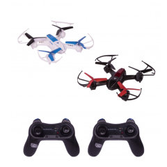 Battling your friends or performing stunts using a remotely controlled quadcopter has never been so much fun! The ThumbsUp RC Battle drones come with 6-axis gyro sensor and built-in sound FX to make playing much more easier, enjoyable and engaging.