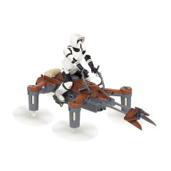 Return to Endor because the greatest Star Wars adventure yet is your own to control. This awesome 74-Z Speeder Bike drone can perform incredible aerobatics, move at over 30mph and fight other Star Wars drones too in app-supported multiplayer battles.