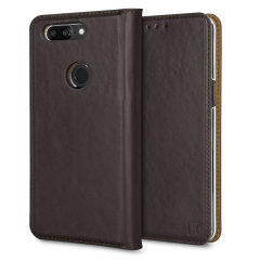 Olixar Genuine Leather OnePlus 5T Executive Wallet Case - Brown