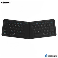 This ingenious QWERTY keyboard from Kanex folds in the centre when not in use, creating a compact, lightweight and ultra-portable solution for typing on the go. The keyboard is also universally compatible with all Bluetooth devices.