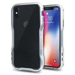 Luphie Incisive iPhone X Aluminium Metall Stoßhülle – Silber