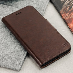 Olixar Leather-Style Oneplus 5T Wallet Stand Case - Brown