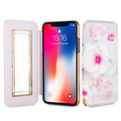 Ted Baker Nalibise iPhone X Mirror Folio Fodral - Chelsea Grå