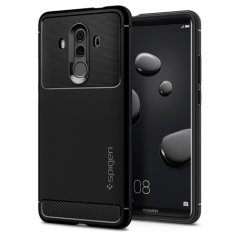 Meet the freshly designed rugged armor case for the new Huawei Mate 10 Pro. Made from flexible, rugged TPU and featuring a mechanical design, including a carbon fibre texture, the rugged armor tough case in black keeps your phone safe and slim.