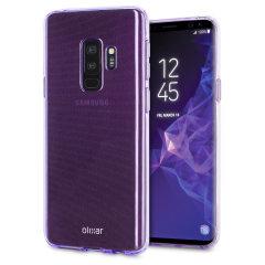Olixar FlexiShield Samsung Galaxy S9 Plus Gel Hülle in Orchid Grau