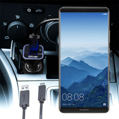 Keep your Huawei Mate 10 Pro fully charged on the road with this compatible Olixar high power dual USB 3.1A Car Charger with an included high quality USB to USB-C charging cable.