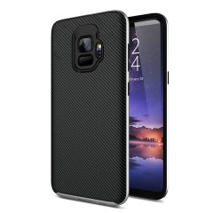 Olixar X-Duo Samsung Galaxy S9 Case - Koolstofvezel zilver