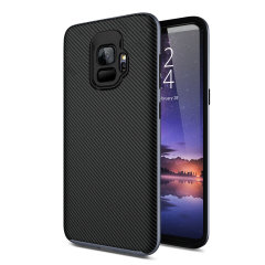 Olixar X-Duo Samsung Galaxy S9 Case - Koolstofvezel metallic grijs
