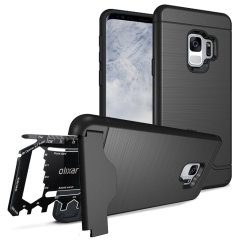 Prepare su Samsung Galaxy S9 para el aire libre con esta funda resistente de Olixar X-Ranger. Con un práctico soporte y un compartimiento seguro para la multi herramienta incluida - o tarjetas - estará listo para cualquier cosa.