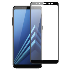 Olixar Full Cover Glas Galaxy A8 2018 Displayschutz - Schwarz