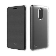 This official flip case in black for LG K8 2017 shields your device from knocks, scrapes and scratches while adding virtually no bulk.