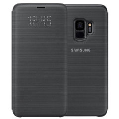 Official Samsung Galaxy S9 LED Flip Wallet Cover - Black