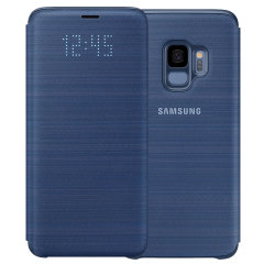 Official Samsung Galaxy S9 LED Flip Wallet Cover - Blue