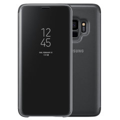 Official Samsung Galaxy S9 Clear View Standing Cover Case - Schwarz