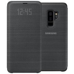 Protégez la face arrière, les côtés ainsi que l'écran de votre Samsung Galaxy S9 Plus tout en gardant un œil sur vos notifications à travers l'écran LED avec cette Flip Wallet Cover (housse portefeuille) officielle Samsung.
