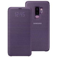 Añada protección a su Samsung Galaxy S9 Plus y manténgase al día de sus notificaciones sin abrir la tapa con esta fantástica funda LED Flip Wallet Cover fabricada por Samsung.