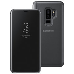 This Official Samsung Clear View Cover in black is the perfect way to keep your Galaxy S9 Plus smartphone protected whilst keeping yourself updated with your notifications thanks to the clear view front cover.